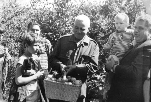 Симонов в гостях у Вобликова. 1967 г.