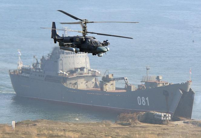 """Многоцелевой всепогодный вертолет Ка-52 """"Аллигатор"""", фото ТАСС."""